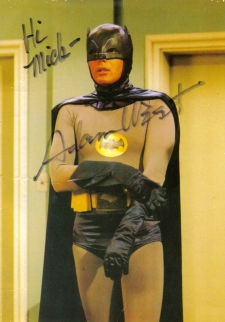 Adam West signed photo