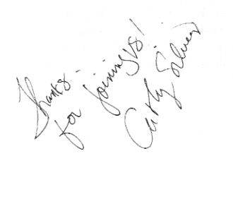 Cathy Silvers' autograph