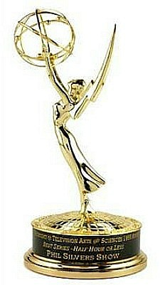 Close up of Phil's Emmy!