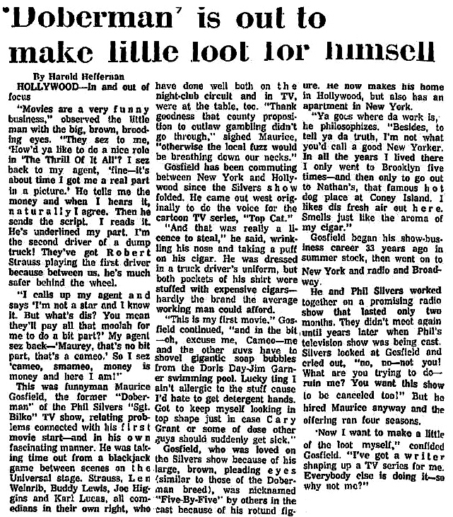 Maurice Gosfield article